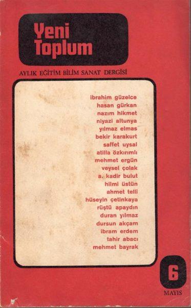 YENİ TOPLUM