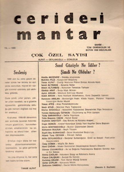 CERİDE-İ MANTAR
