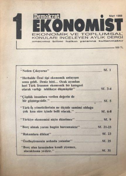 DEMOKRAT EKONOMİST