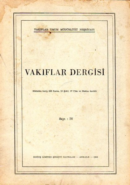 VAKIFLAR DERGİSİ